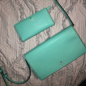 Kate Spade Matching Wallet and Crossbody in Teal